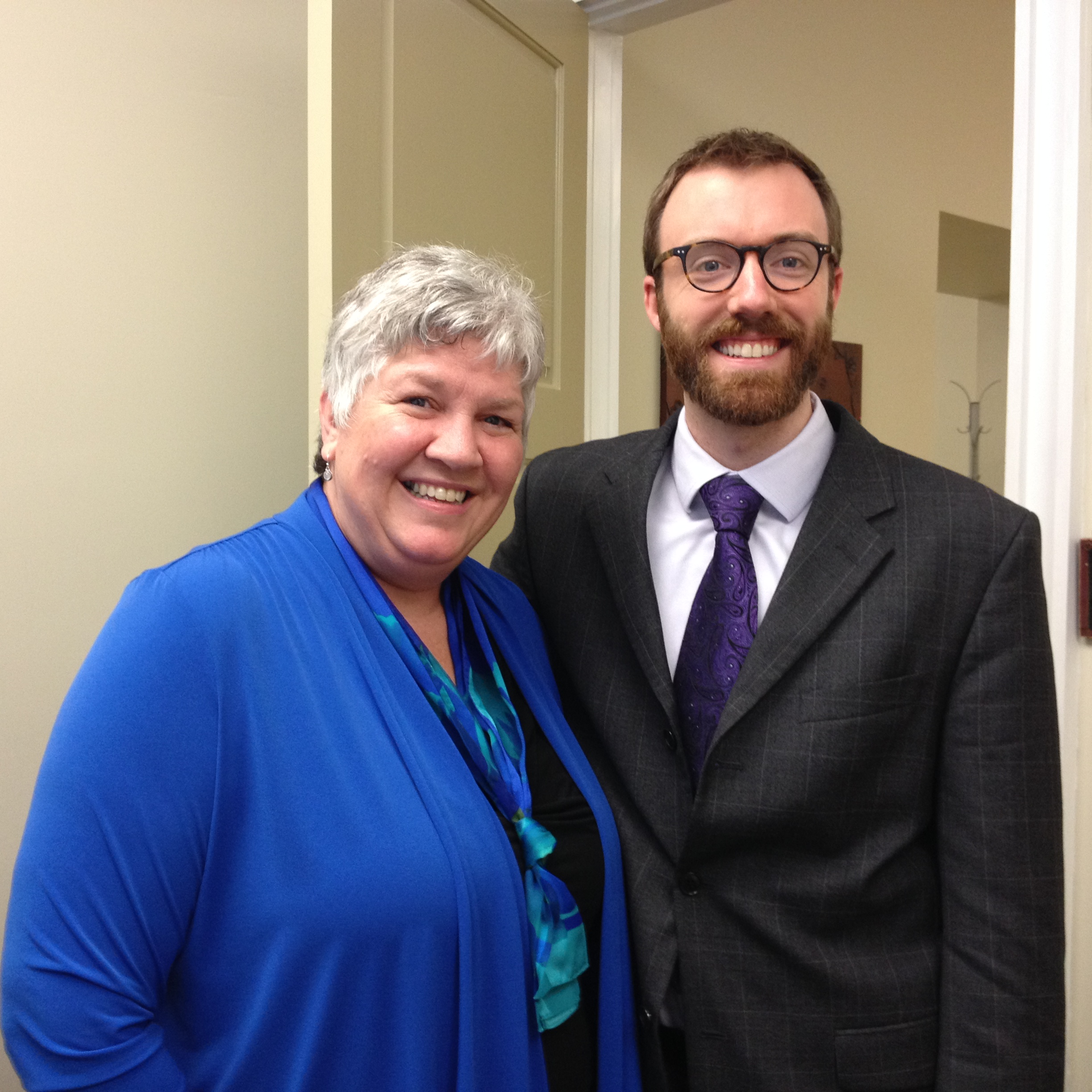 Donna Simpson, and former University of Scranton SBDC intern, Tim Smith.